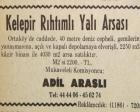 1974 yılında Ortaköy'de metrekaresi 2.220 liradan satılık yalı arsası!