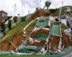 Erzurum Kayakla Atlama Kuleleri ihmalden çöktü!
