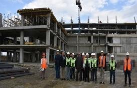 Tekirdağ Büyükşehir Belediyesi hizmet binasının 7 katı tamamlandı!