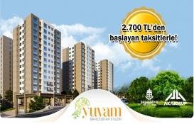 Yuvam Bahçeşehir'de fiyatlar 344 bin TL'den başlıyor! Yeni proje!