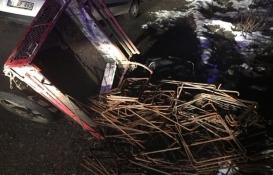 Düzce'de inşaat demiri hırsızlığı!