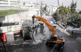Doğu Kudüs'te Filistinlilere ait bir bina yıkıldı!