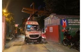 Göztepe-Ümraniye metro inşaatında kaza: 2 yaralı!
