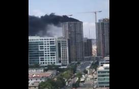 Ümraniye'de inşaat halindeki 29 katlı binada yangın!