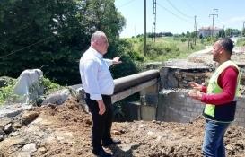 Çatalca İhsaniye'de 50 yıldır beklenen köprünün yapımı başladı!