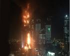 Dubai'de lüks otelde yangın paniği!