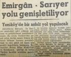 1956 yılında Emirgan ile Sarıyer sahil yolu genişletilecekmiş!