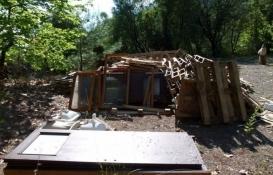 Doğa içinde 1500 TL'ye kendi evini yaptı!