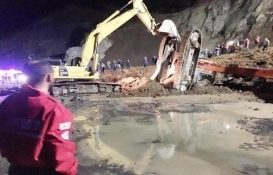 Rize'de havalimanı inşaatında heyelan: 1 ölü!