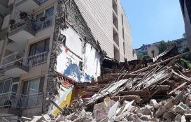 İzmir'de çöken bina çevresine tel örgü çekildi!