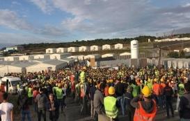 3. Havalimanı'nda yine isyan! İnşaat işçileri iş bıraktı!