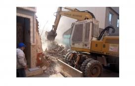 Osmangazi Çirişhane'deki metruk bina yıkıldı!