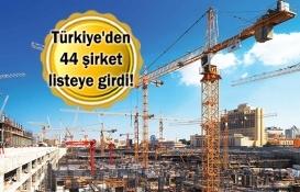 Dünyanın en büyük inşaat firmaları açıklandı!