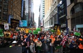New York'ta inşaat çalışanları protestosu!
