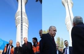 Cumhurbaşkanı Erdoğan inşaatı devam eden Çamlıca Kulesi'ni inceledi!