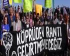 HDK 3. köprü inşaatı için Sarıyer'de eylem yaptı!