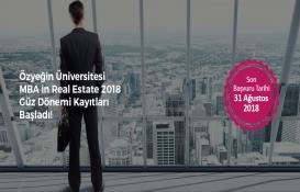 Özyeğin Üniversitesi MBA in Real Estate güz dönemi kayıtları başladı!