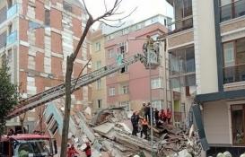 Bahçelievler'de çöken binanın çevresindeki apartmanlar incelendi!