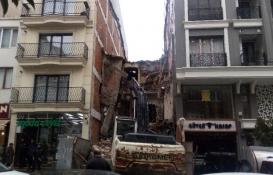 Şişli'de yıkım dehşeti! Her şey bir anda oldu!
