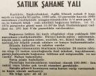 1974 yılında Şaşkınbakkal'da bir yalı pazarlıkla satılacakmış!