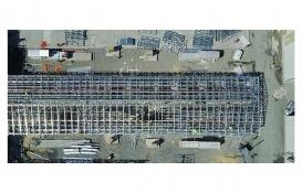 Atatürk Havalimanı'ndaki salgın hastanesinin inşaatı havadan görüntülendi!