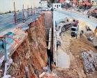 İzmir Narbel yolunda istinat duvarı çöktü!