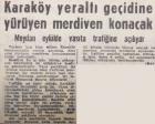 1964 yılında Karaköy Yeraltı Geçidi'ne yürüyen merdiven konacakmış!