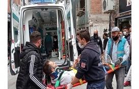 Silivri'de yıkım çalışması yapılan binadan düşen işçi yaralandı!