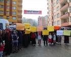 Rize'de kamulaştırma bedeli protesto edildi!