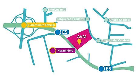 torium avm alışveriş merkezi harita kroki